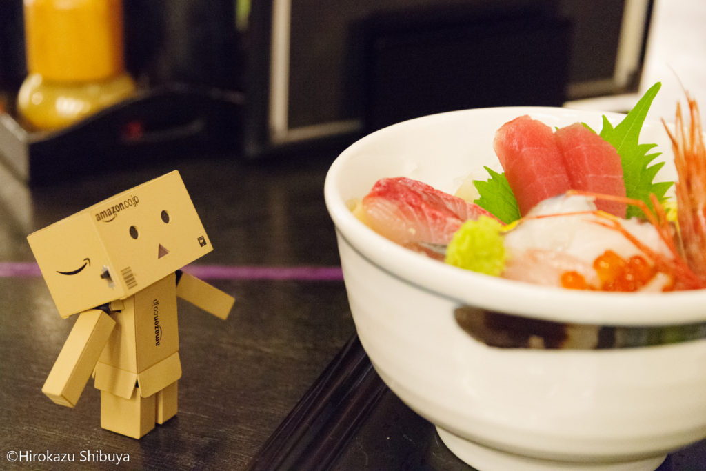 海鮮丼とダンボー