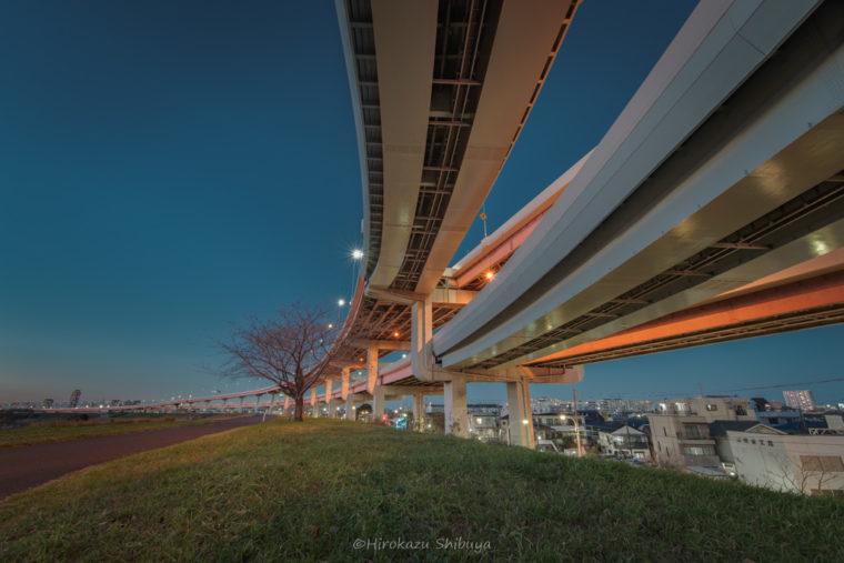 江北ジャンクション夜景