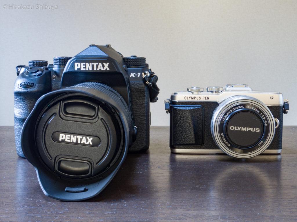 PENTAX K-1とOLYMPUS PEN Lite E-PL7を比較