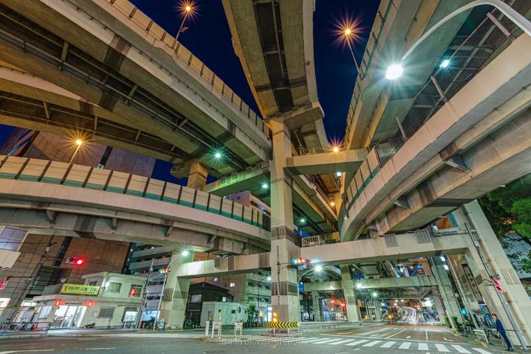 箱崎ジャンクション夜景