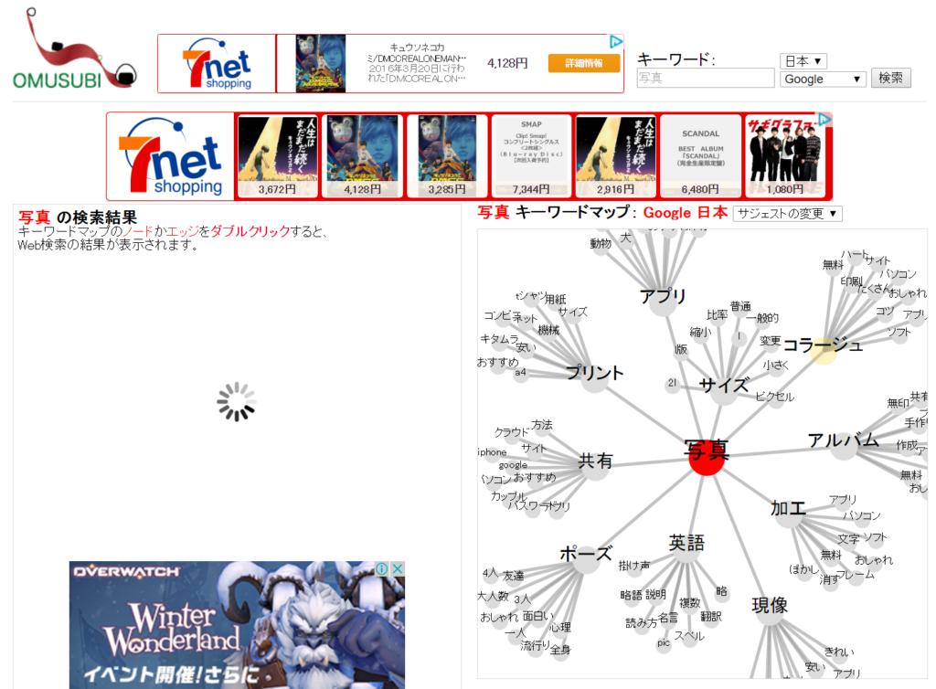 無料で使えるキーワードマップ「おむすび」