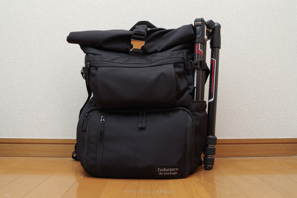 Manfrotto befree GTをEndurance Extに取り付けた様子